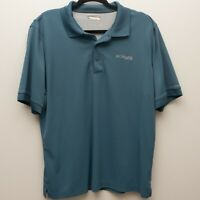 Columbia PFG Men's Blue Short Sleeve Vented Omni-Shade Polo Shirt - Size Large