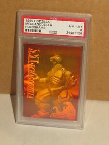 1995 GODZILLA TOHO/JPP GRADED HOLOGRAM INSERT CARD MECHAGODZILLA! PSA 8 NM-MT!