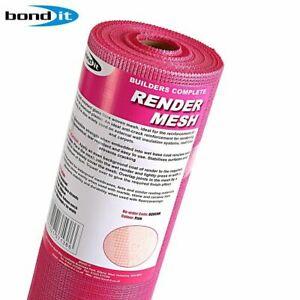 RENDER MESH FIBERGLASS 160G/M2 50M2 REINFORCING PLASTER PINK BOND IT