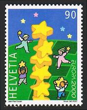 Switzerland 1074, MNH. EUROPA CEPT. Millennium stars, 2000