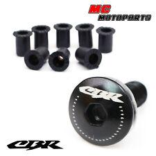 Black CBR Logo Windscreen Fairing bolts Honda CBR600RR 2003-2006 2007-2013