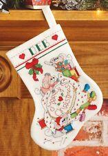 Cross Stitch Brigade (Mice) Christmas Stocking Cross Stitch Kit - Janlynn