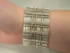 BUTW Cast pewter stretchable bracelt 3132E ab