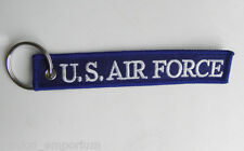 USAF US AIR FORCE ABOVE ALL EMBROIDERED KEY RING BAG TAG STRAP 5 X 1 INCHES