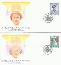 5 FDC BRITISH 1990 HER MAJESTY THE QUEEN MOTHER'S 90TH BIRTHDAY DUCHESS YORK 200