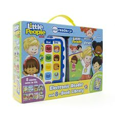 NEW Fisher Price Little People Electronic Me Reader & 8 Books Library Collection