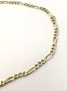 """Brand New 14kt Yellow Gold 9"""" Figaro Link Anklet - Free Shipping!"""