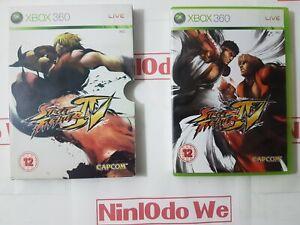 Street Fighter IV (4) - (Xbox 360) Complete - Rare card slip cover - VGC