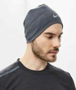Nike Beanie Hat Cap Dry Dri Fit Warm Adult Unisex Gray Grey AQ8290-032