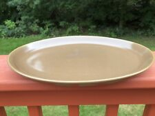 """Russel Wright Iroquois Nutmeg Brown 12.5"""" Oval Platter"""