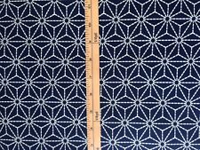 "Japanese Cotton Fabric for Quilt Traditional ""Asanoha""  100% Cotton 1/2 yard"