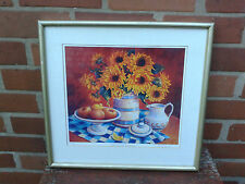Trisha Hardwick - Still life with Sunflowers. Framed limited edition print.