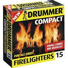 15 batterista firelighters Compact BRUCIATORI incendio ACCENDINI Quickfire cubi