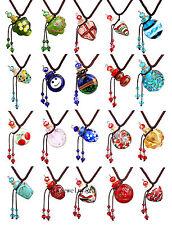 50pcs Lots Glass Bottle Pendant Necklace Perfume Essential Oil Diffuser Handmade