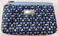 Jim Thompson Folding Zip Pouch Cosmetic Travel Multipurpose Bag w/Elephants EUC
