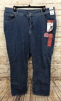 Lee Riders jeans womens 24W straight leg new relaxed fit slimming stone wash BO