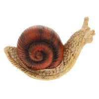 Realistic Snail Figurine Toy Garden Statue Resin Craft Plants Tree Ornament