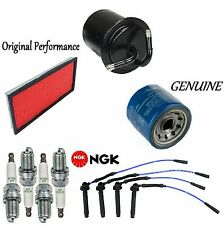 Tune Up Kit Air Oil Fuel Filters Wire Plugs for Subaru Impreza H4; 2.2L 99-01