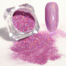 Holographic Holo Laser Powder Dust Shining Nail Art Glitter DIY Light Purple