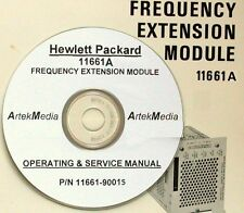 Hp Hewlett Packard 11661A Frequncy Extension Module Operating & Service Manual