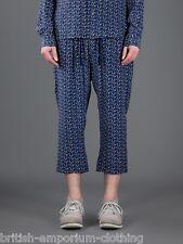 "Dolce & Gabbana Bleu Foncé Soie Football Imprimé Pyjama Pantalon Bnwt W28-30""."