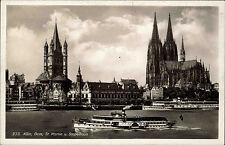 Schiffe Rhein ~1930 Schiff Dampfer Anlegestelle KÖLN Photo Hoursch & Bechstedt