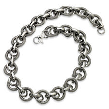 Chisel Stainless Steel Fancy Link 22in Necklace 22""