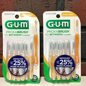 GUM Proxabrush Go-Betweens Interdental Brushes Ultra Tight Plaque Removal 20 Ct