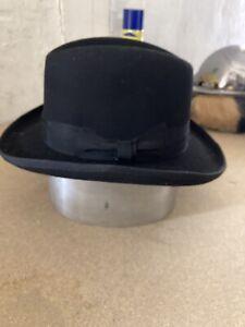 Homburg Hut. schwarz, Größe 57.   Haarhut Top Qualität