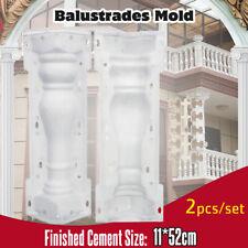2Pcs/Set Moulds Balustrades Pillar Mold Concrete Plaster Cement Garden