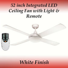 Fias Rotor 52 inch LED Ceiling Fan in White with Light and Remote