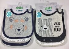 Child Of Mine By Carter's Lot Of 2, 3 Pack Boy Bibs (6 Total Bibs)