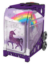 Zuca Bag Unicorn 2 Insert & Purple Frame w/Flashing Wheels - Free Seat Cushion