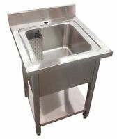 600MM COMMERCIAL STAINLESS STEEL SINGLE BOWL SINK