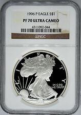 1996-P NGC PF70 Ultra Cameo Proof Silver Eagle