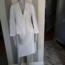 theory  BLAZER SUIT Jacket,skirt sz 4 ,white linen blend stretch 1b