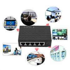 5 Port 1000 Mbps Desktop Ethernet Network LAN Power Adapter Switch Hub TF
