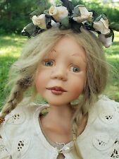 "Unusual Blonde Artist Sandi McAslan 16"" Resin Artist Edition Character Doll 1995"