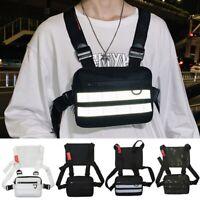 Men Chest Rig Bags Outdoor Harness Chest Vest Travel Crossbody Shoulder Bag