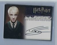 Harry Potter Tom Felton As Draco Malfoy Order Of The Phoenix Auto Card