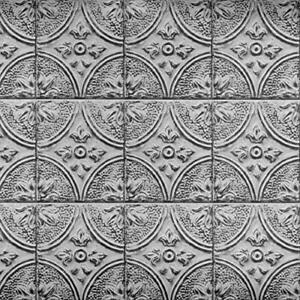 BHF2774 Silver Faux Tin Tile Peel and Stick Backsplash