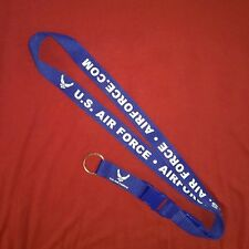 U.S. Air Force Ariforce.com blue Neck Lanyard Detachable End w/keyring Military