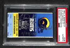 ERIC DICKERSON 11-27-1983 18 ROOKIE RUSHING TDS NFL RECORD SIGNED TICKET PSA/DNA
