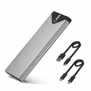SSK Aluminum M.2 NVME SSD Enclosure Adapter USB 3.1 Gen 2 10 Gbps to NVME PCI...