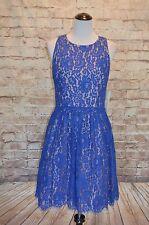 Modcloth Cobalt blue Eliza J A-line lace dress NWT 8  $160 missing belt cutout