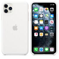 APPLE SILICONE Case Silikon Hülle iPhone 11 Pro Max White ORIGINAL GENUINE Weiß