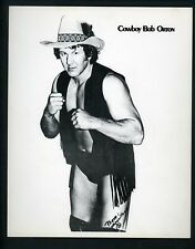 Cowboy Bob Orton Wrestling Champion circa 1970's Promo Photo Wrestler