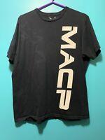 APPRIME Courage Above All MACP Logo T Shirt Back Graphic Black/Grey Mens Sz L