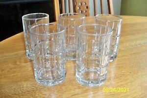 Anchor Hocking Tartan Clear 6 Oz  Juice Drinking Glass Set of 5