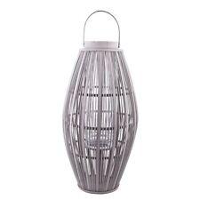 broste Copenhagen  große Laterne Windlicht Aleta grau 62cm Bambus Glas  Dänemark
